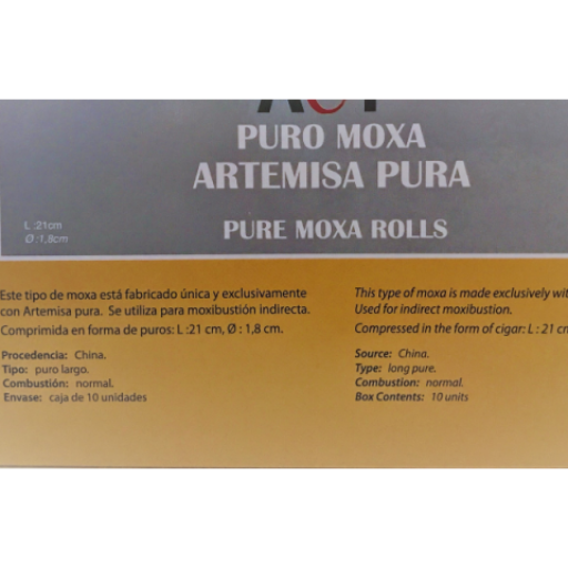 Puros moxa Artemisa PURA (caja 10 unidades) Longitud: 21,5 cm. [1]