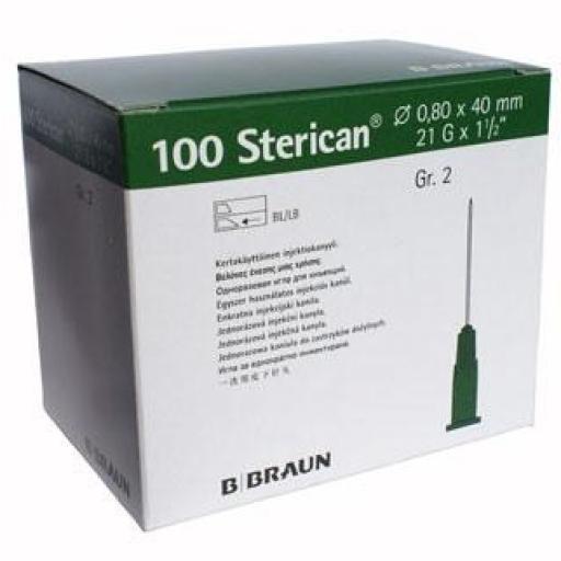 "Aguja Sterican 21G x 1 1/2"" - 0,8 x 40 mm Verde. [0]"