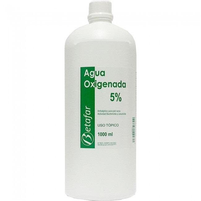 Agua Oxigenada al 5 % - 1000 ml.