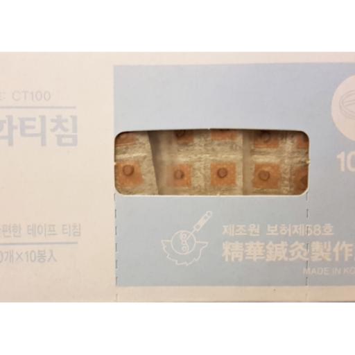 Chincheta Coreana (100 ud) estéril con adhesivo. [1]