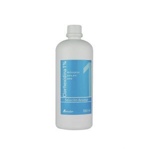 Clorhexidina acuosa 1% 500 Ml. - Betafar.