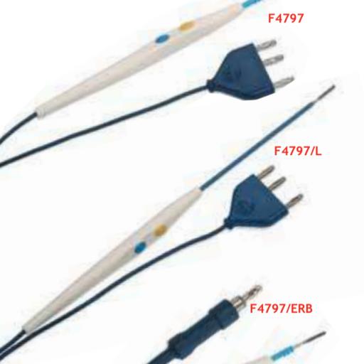 Electrobisturi desechable F4797  3,2m (Caja de 50 ud).