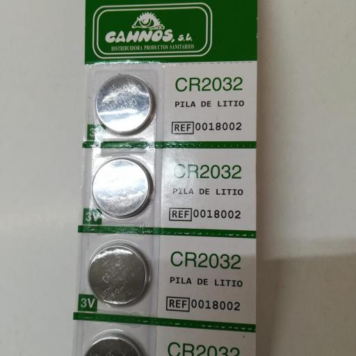 Pila Botón Litio CR2032. (Pack 4 ud).