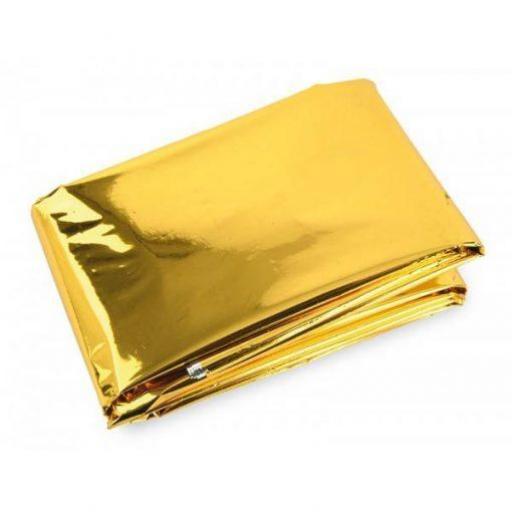 Manta Isotérmica Para Emergencias Plata-Oro.