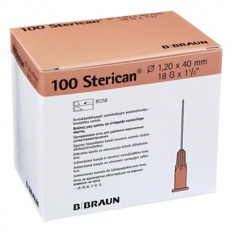 "Aguja Sterican 18 G x 1 1/2"" - 1,2 x 40 mm Rosa."