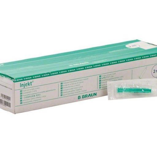 Jeringa de dos cuerpos Injekt 2 ml. [1]