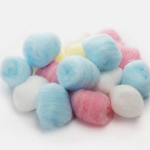 Bolas de Algodón de colores (100 ud)