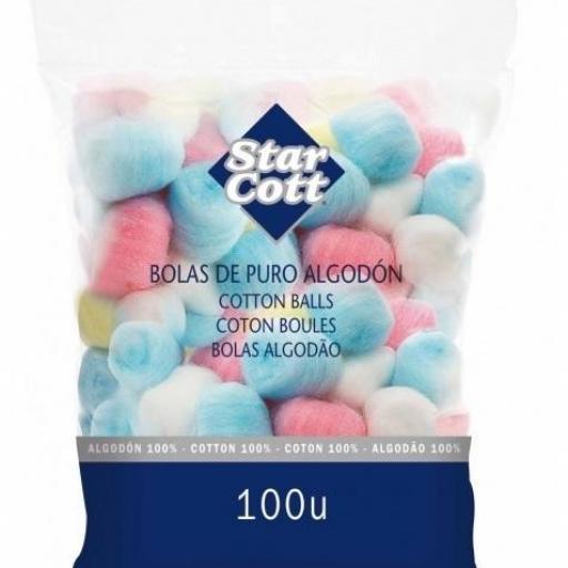 Bolas de Algodón de colores (100 ud) [1]