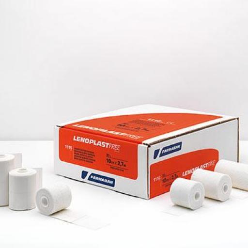 Venda Elástica Adhesiva 7.5 cm x 2,7 m. - Lenoplast Free.