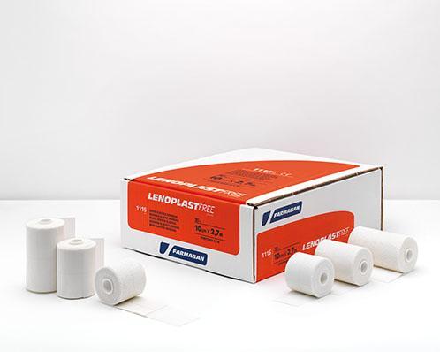 Venda Elástica Adhesiva 10 cm x 2,7 m. - Lenoplast Free.