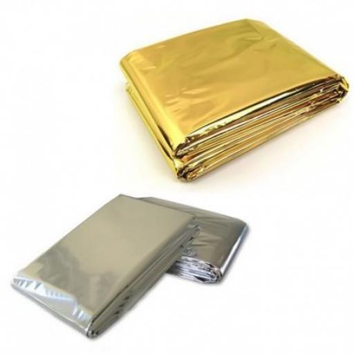 Manta Isotérmica Para Emergencias Plata-Oro. [1]