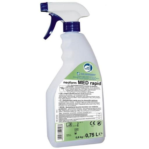 Desinfectante de Superficie neoform Med Rapid 0.75 L.