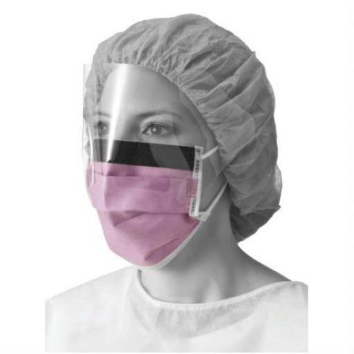 Mascarillas quirúrgicas con protector ocular. (Caja 25 Ud).