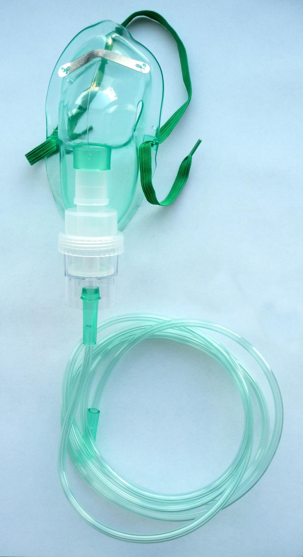 Mascarilla de Oxígeno con Nebulizador Pediátrico (Caja 100 ud).