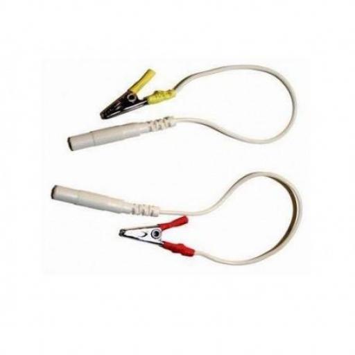 Pinza cocodrilo conector 2 mm (2 unds.)