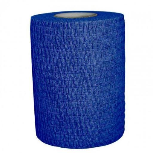 Venda Elástica Cohesiva 7.5 cm x 4,5 m Azul.