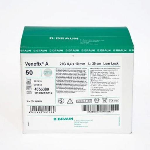 Palomilla de infusión Venofix A G27 10 mm  [1]