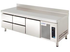 MESA REFRIGERADA MPGB-180 HC 5C GASTRONORM DE ALTURA 600MM
