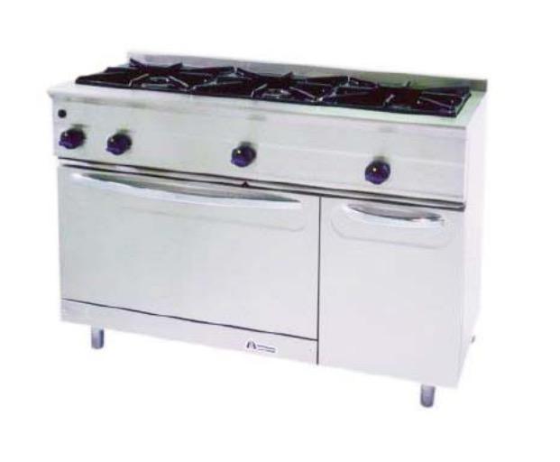 Cocina a gas con horno M-1200/3H