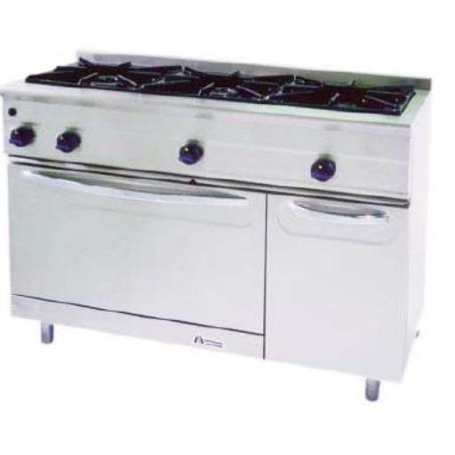 Cocina a gas con horno MG-1200/3H