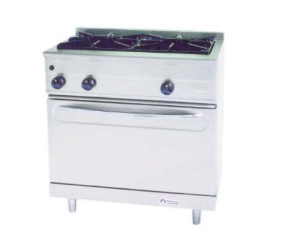 Cocina a gas con horno M-900/2H