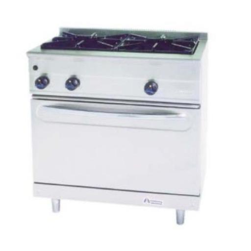 Cocina a gas con horno MG-900/2H