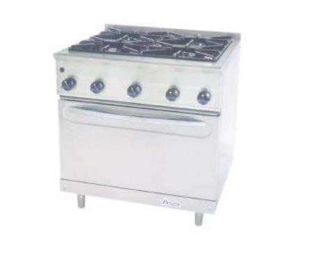 Cocina a gas con horno M-900/4H