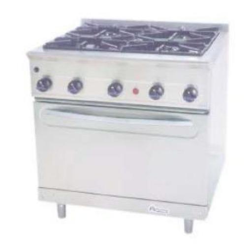 Cocina a gas con horno MG-900/4H