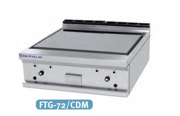 Fry-top a gas FTG-72/CDM cromo duro