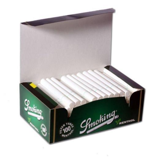TUBOS SMOKING MENTHOL 100 Ud.