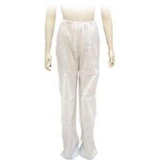 100 Pantalones Presoterapia Blanco TNT 30 grs