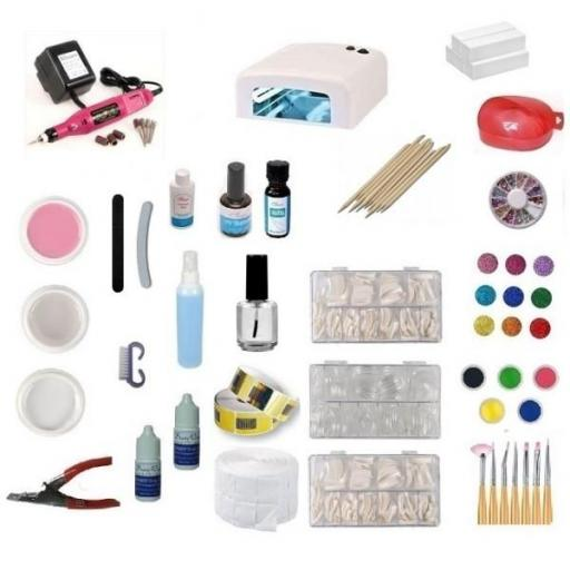 KIT DE UÑAS GEL COMPLETO LÁMPARA + TORNO 20.000 RPM