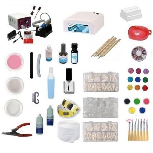 KIT DE UÑAS GEL COMPLETO LÁMPARA + TORNO 30.000 RPM