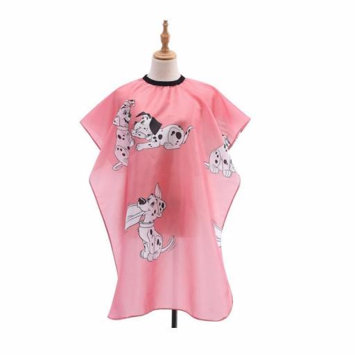 Capa Infantil Peluqueria Rosa