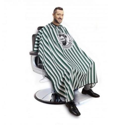 Capa Corte Barbero Verde Rayas [1]