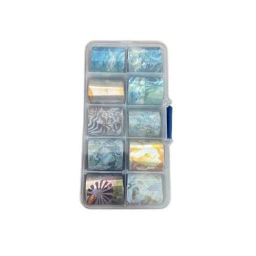 Nail Foil 10 unid - Opcion 3