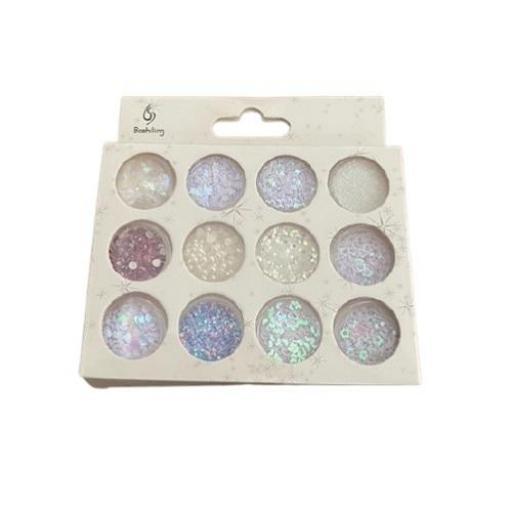 Set 12 Perlas Glitter