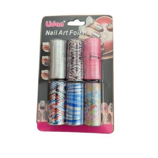 Nail Foil 6 unid - Opcion 6