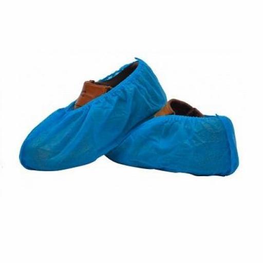 Cubrezapatos Desechables de CPE Azul 100 unid