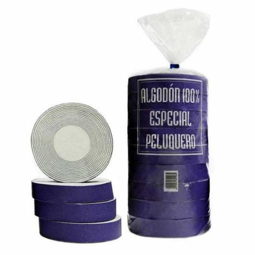 Discos de Algodón Arrolado Peluqueria con Papel Cortado 1 Kg