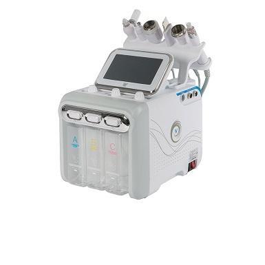 Equipo radiofrecuencia bipolar, ultrasonido, espátula de exfoliación mediante ultrasonidos, spray, hidrodermoabrasión y martillo frío.