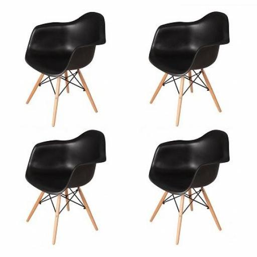 Pack 4 Sillones Eiffel Negros