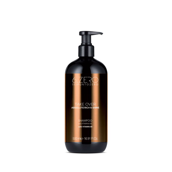 Shampoo 6.Zero Cabello Seco y Mate Take Over Absolute Rich & Shine 500 ml