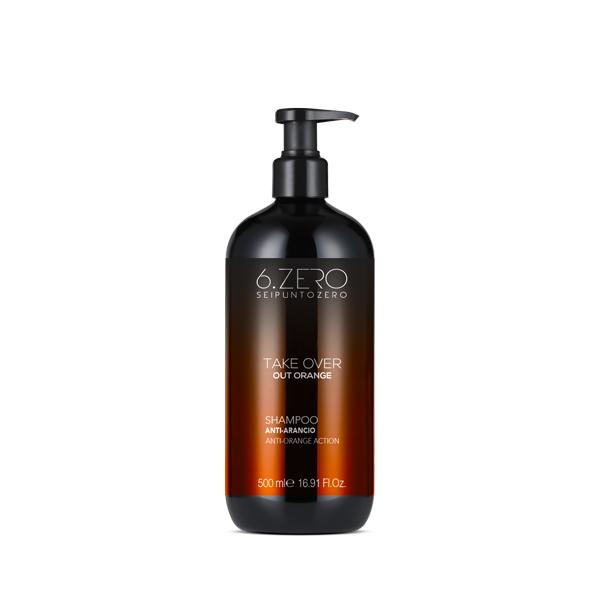 Shampoo 6.Zero Champú Antinaranja Take Over Out Orange 500 ml