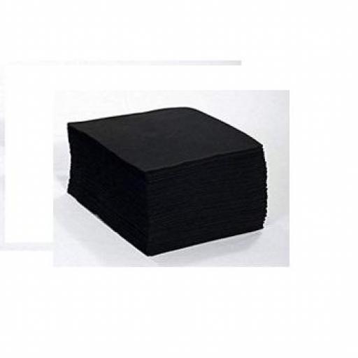 100 Toallas Negras Desechables Peluqueria 40 x 80  [0]