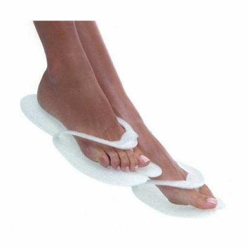 Zapatillas Acolchadas Blancas 10 pares