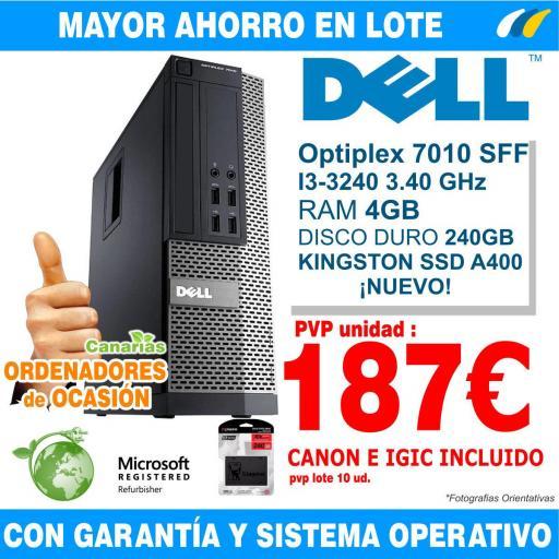 Lote 10  - DELL OPTIPLEX 7010 SFF i3-3240 - 4GB [0]