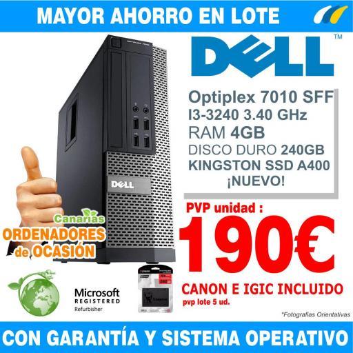 Lote 5  - DELL OPTIPLEX 7010 SFF i3-3240 - 4GB [0]