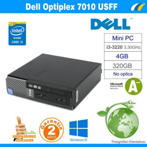 Intel Core i3-3220 3.30Ghz 4GB 320GB - Dell Optiplex 7010 USFF