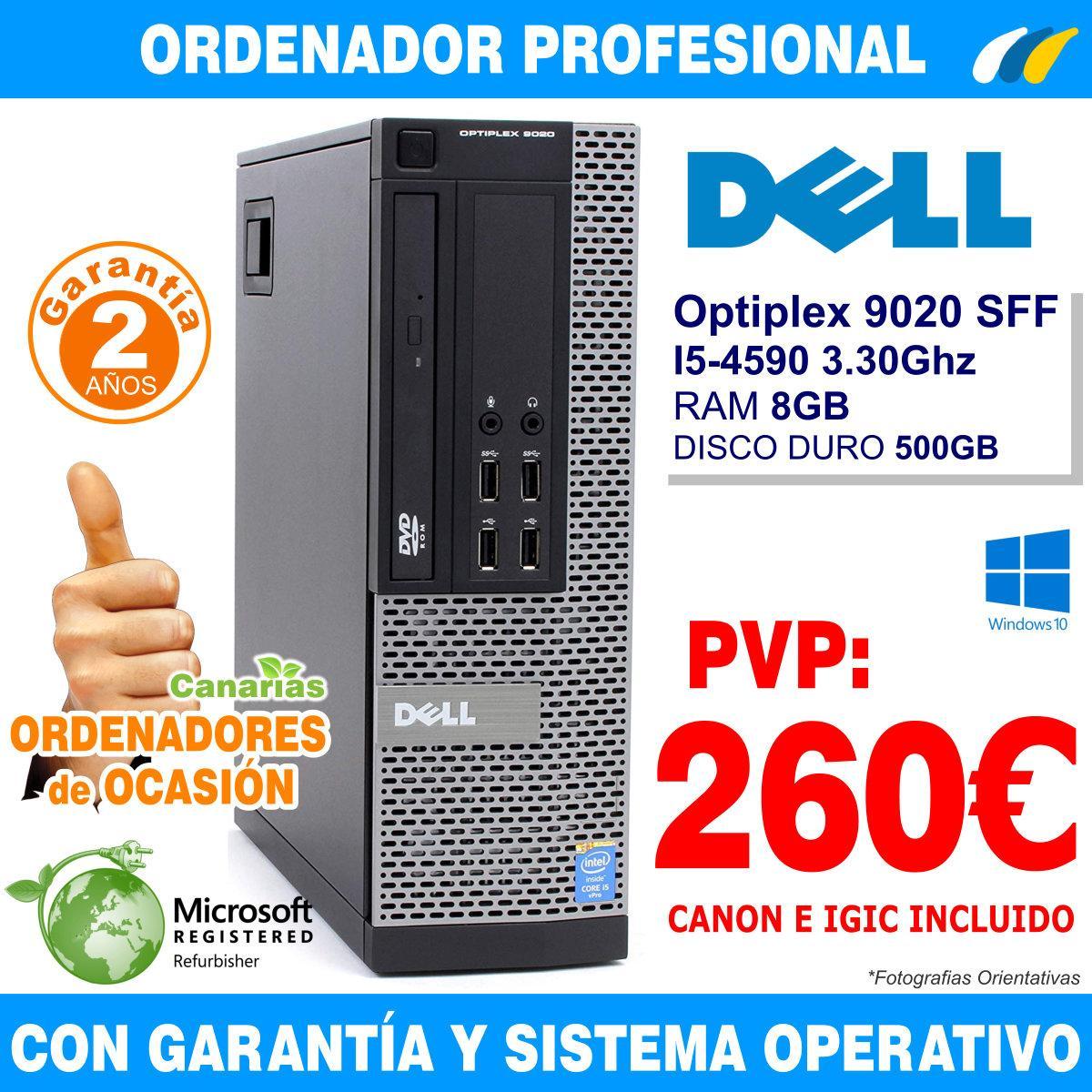 Intel Core i5-4590 3.30Ghz 8GB 500GB - Dell Optiplex 9020 SFF